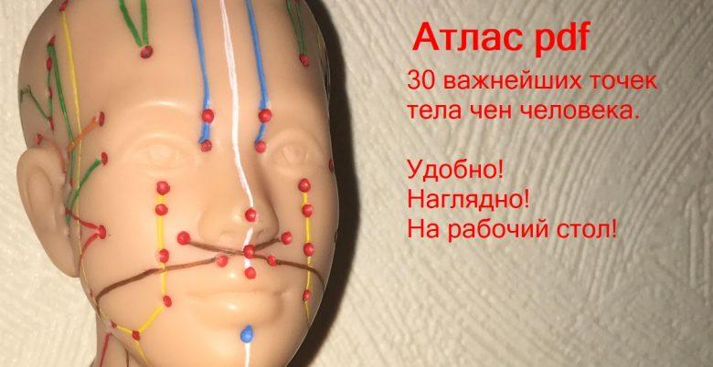 Атлас 30 точек тела человека